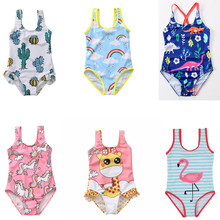 Summer Clothing Girl Swimsuit Children Siamese Unicorn Print Infant Swimsuit Baby Girl Beach Swimsuit Swimwear Kids Unicorn Baby футболка print bar unicorn