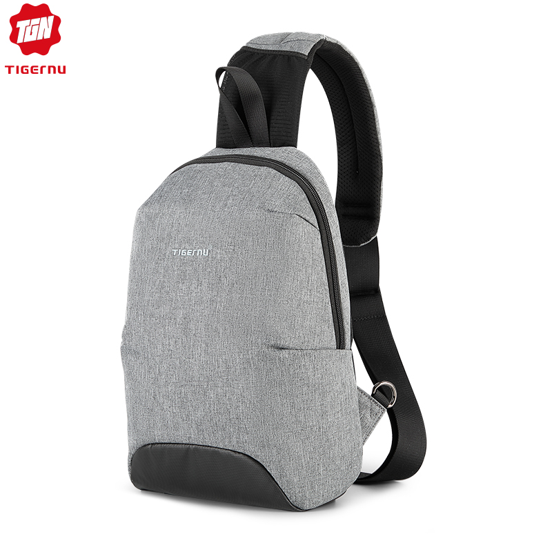 Tigern New Multifunction RFID Anti Theft Crossbody Bag Waterproof Men Light Weight Sling Chest Bags Fashion High Quality Zippers