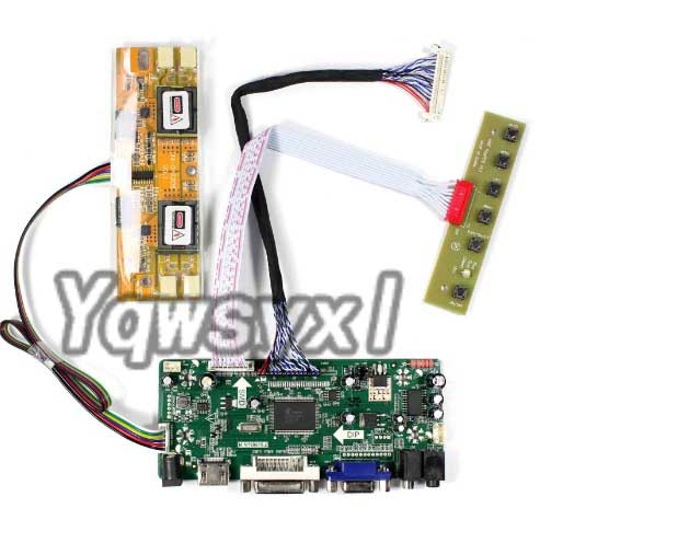 Yqwsyxl  Kit For M201EW02 V8 V.8  M201EW02 VF V.F  HDMI + DVI + VGA LCD LED Screen Controller Driver Board
