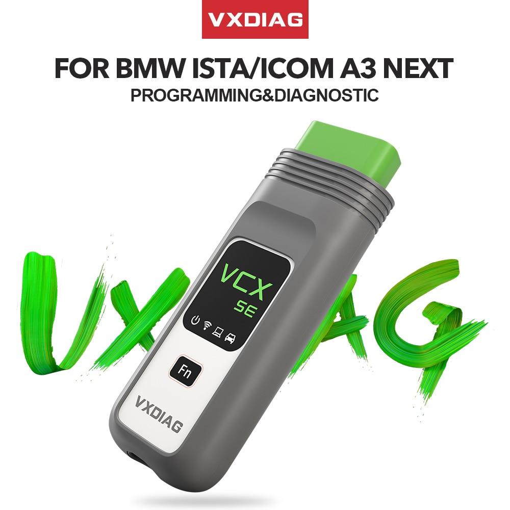 Vxdiag vcx se para bmw obd2 scanner de diagnóstico do carro icom a2 a3 próxima ferramenta de programação ecu para bmw ista mini codificação inpa
