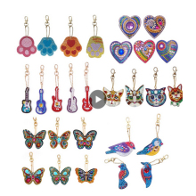 2-6 шт DIY Алмазная картина брелок специальная форма алмазная живопись ключи брелки Вышивка крестом женская сумка брелок для ключей