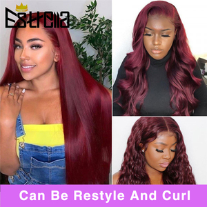 Image 2 - Brazilian Straight Lace Closure Human Hair Wigs 8 24 Inches Pre Plucked with Baby Hair 4x4 Closure Wig 150% Remy Human Hair Wigs
