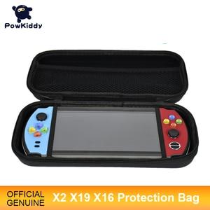 """Image 1 - Powkiddy için X2 X19 X16 7 """"büyük ekran el konsolu çantası koruyucu kapak Retro elde kullanılır oyun konsolu çantası taşıması kolay"""