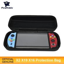 """Powkiddy para x2 x19 x16 7 """"grande tela handheld console saco capa protetora retro handheld game console saco fácil de transportar"""