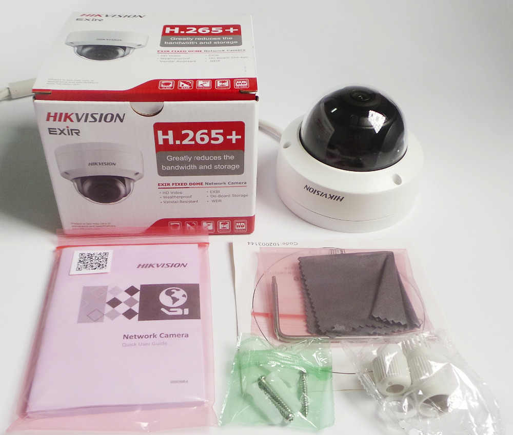 Hikvision ds 4CH PoE NVR KIT 4K CCTV Sistema di 8MP Dome IP Camera P2P Esterna Impermeabile di IR di Visione Notturna Video KIT di sorveglianza