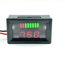 Vehicle Voltage Meter Wire LED Display Electromobile High-power Power Motorcycle Car Digital 12V