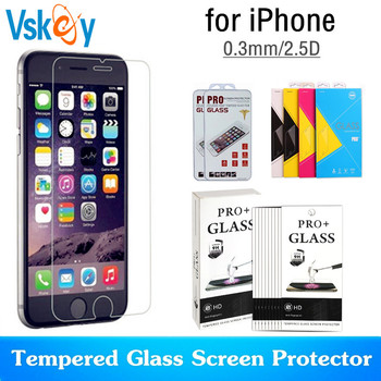 VSKEY 100pcs 2.5D Tempered Glass for iPhone 7 Plus Screen Protector for iPhone 8Plus i7 i8 i6 Protective Film