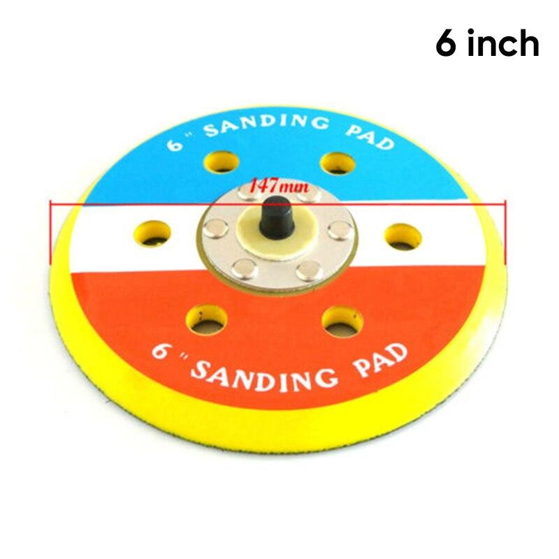 12000RPM 6 Inch Dual Action Random Orbital Sanding Pads For Air Polisher