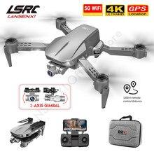 L106 pro rc zangão gps 4k hd câmera anti-agitação auto-estabilização de 2 eixos cardan profissional fotografia aérea quadcopter dron brinquedo