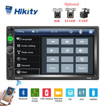 "Hikity Universal 2 DIN Mobil Radio 7 ""HD Auto Radio Cermin Link Mobil Multimedia Player Bluetooth Sentuh Layar Auto Audio mobil Stereo(China)"