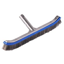 Swimming Pool Cleaning Wire Brush Cleaning Tool 18 Inch Aluminum Adhesive Stainless Steel Telescopic Rod Moss Brush