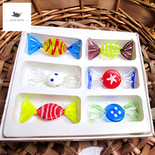 NEW Vintage Murano Glass Sweets Candy 6Pcs/Set Figurines Crafts Random Colors Christmas Ornament Kids Gifts Party Decorations кофемашина delonghi magnifica s ecam 22 110 b