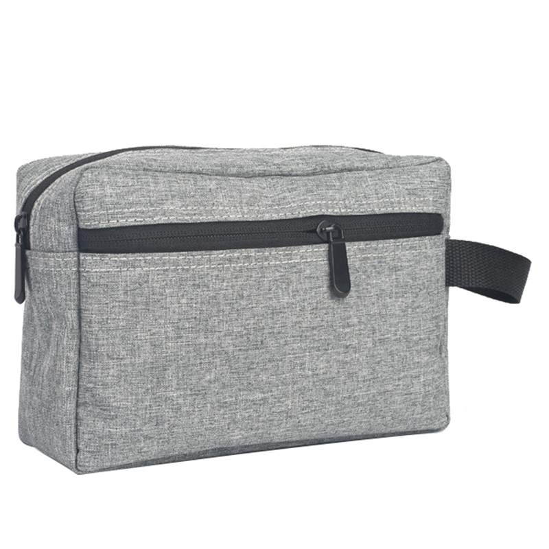 Gray 1 Pc Travel Men Wash Bag Waterproof Makeup Bag Toiletry Wash Kit Storage Pouch For Women Cosmetic Bag