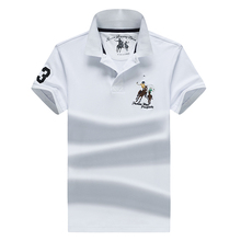 Polo-Shirt Paul Business Embriodery Men Casual Fashion Cotton Summer New 4XL Lapel Solid