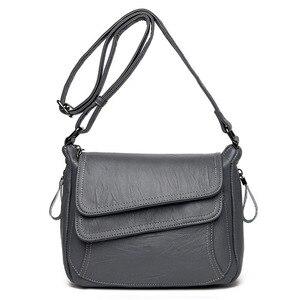Image 4 - Hot New Crossbody Bags For Women Flaps Luxury Handbags Bags Designer Leather Vintage Female Messenger Bag Ladies Shoulder Bags