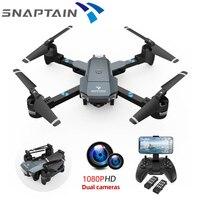 SNAPTAIN-Dron cuadricóptero teledirigido A15, 1080P, HD, FPV, WIFI, cámara dual, control por voz, sin cabeza, plegable, regalo para niños