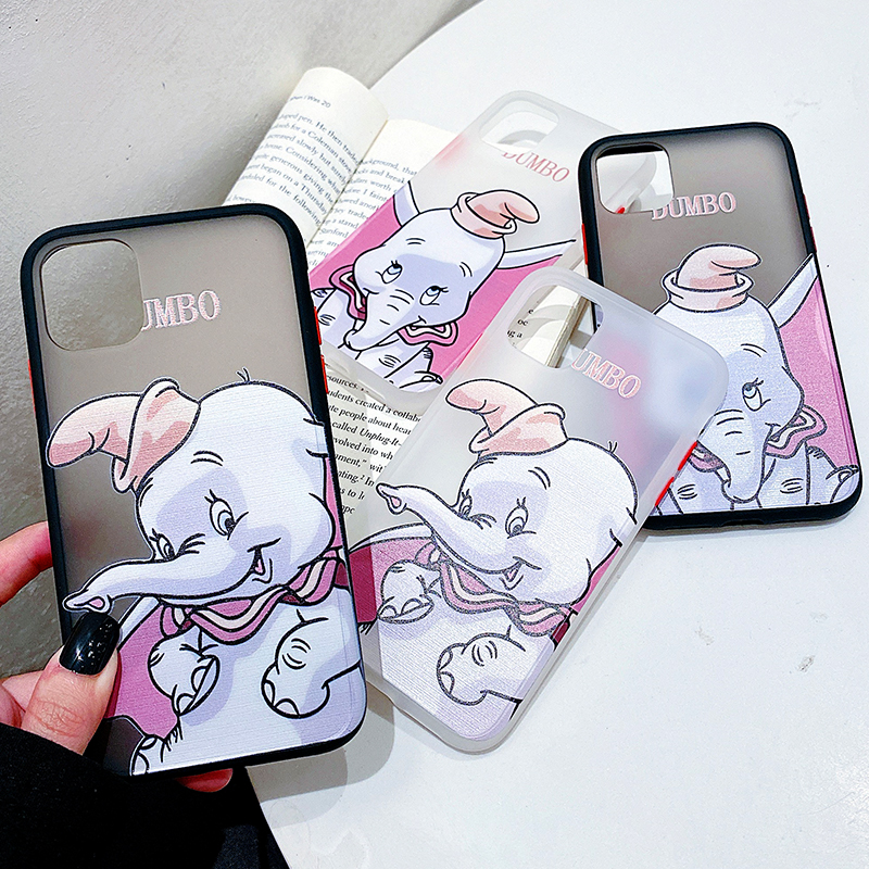 2 in 1 Style Bumper Phone Case for Huawei P30 P20 Pro Lite Mate 20 <font><b>30</b></font> Nova <font><b>5</b></font> Cartoon Dumbo Elephant Clear Back Cover Cases image