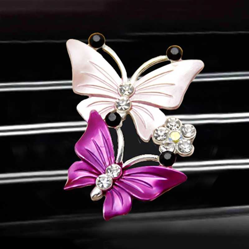 Cute Butterfly Air Freshener Clip Car Perfume Decoration Air Conditioner Outlet Car-styling Auto Accessories Fragrance