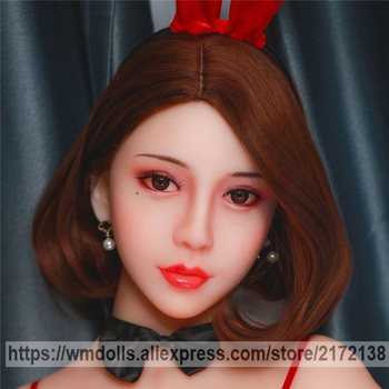 WMDOLL 56# Lifelike TPE Sex Doll Heads for Realistic Oral Sex Fit 140-170cm Silicone Real Love Doll Head Adult Toys