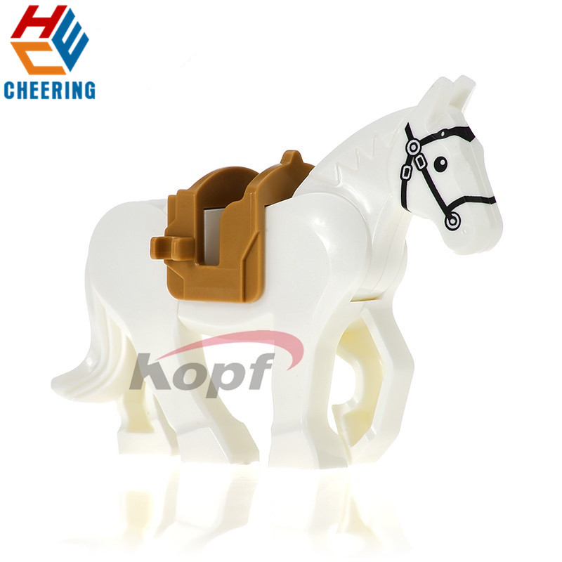 Single Sale Hobbit Lord Of Rings White Blown Black Horse Learning Building Blocks Figures Bricks Collection Toys For Kids XH 686
