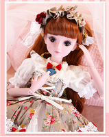 Demi Doll 19 Joints Doll 60cm Girl Toy Simulation Wedding Dress Princess Doll Set Gift Play House Interaction Toy Birthday Gift