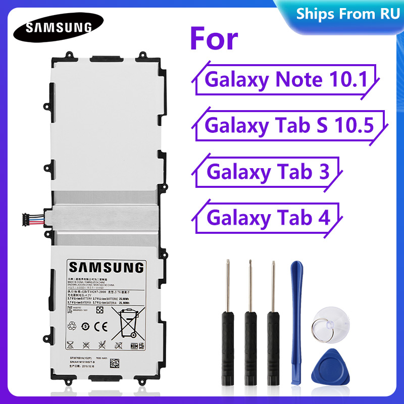 Original Battery SP3676B1A For Samsung Galaxy Note 10.1 N8000 N8020 P7500 P7510 P5100 P601 Tab 3 P5200 Tab4 T530 T533 Tab S T800