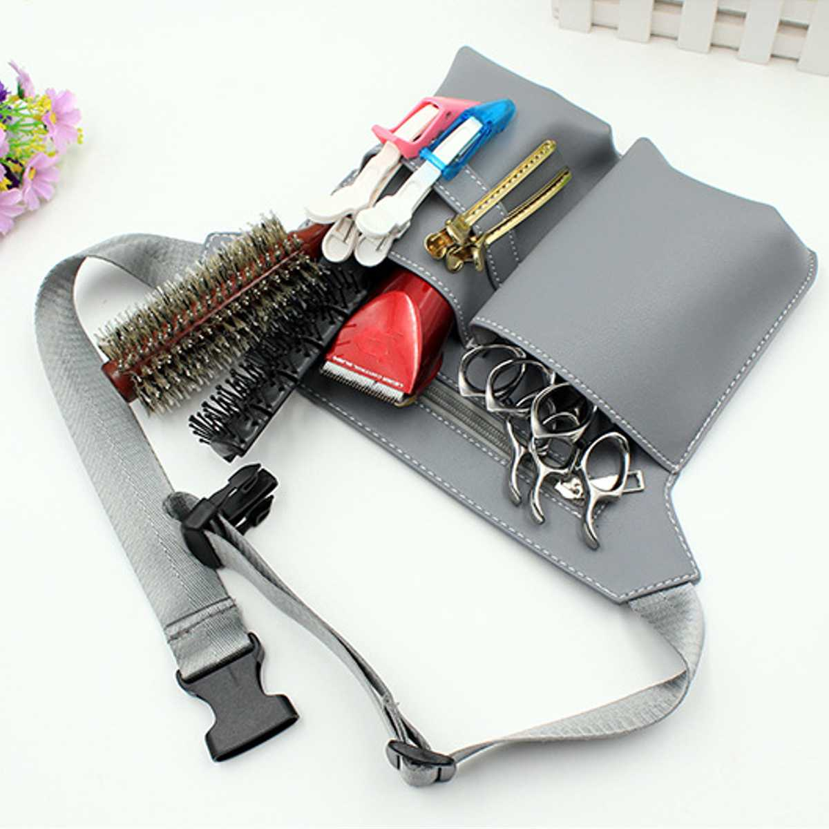 Salon Hair Scissor Bag Professional Big Storage Space Hair Comb Shear Pouch Holder Case Belt Barber Hairdressing Tool Bag