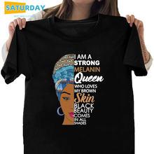 Женская футболка «Я сильная королева меланина» женская с Африканской