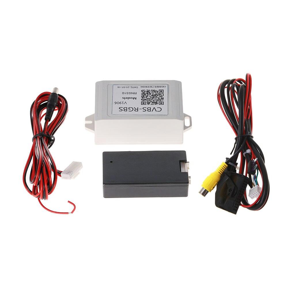 New Arrive Car Backup Camera Rearview RGB To AV Converter Adapter For VW Volkswagen RNS510 Drop