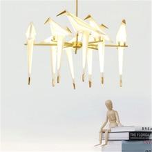 Vintage Loft Bird Acrylic Pendant Lights LED Pendant Lamp Bedroom Living Room Hanging Lamp Luminaire Light Fixtures Luminaria