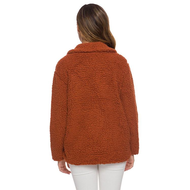 Hff811df352014ac1ad10e2a055ab14e48 Women winter jacket 2019 fashion new double-breasted sweaters lapel loose fur jacket women outwear women coat ladies jacket