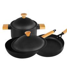 3 шт набор кастрюль антипригарная сковорода домашняя кухонная