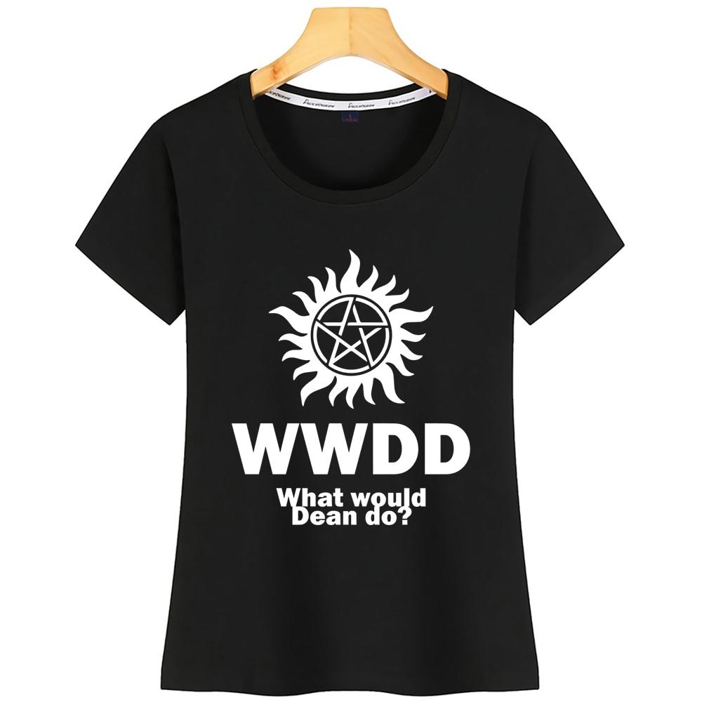 Tops T Shirt Women What Would Dean Do Supernatural Winchesters Basic Harajuku Print Tshirt