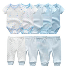 2020 Solid Bodysuits+Pants Baby Boy Clothes Clothing Sets 0 12M Baby Girl Clothes Unisex Newborn Girls Baby Cotton Roupa de bebe