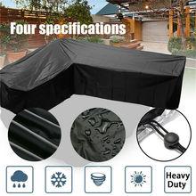 Furniture-Cover Sofa Patio Rattan L-Shape Outdoor Garden Waterproof Protect-Set