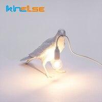 Nordic LED Italian Seletti Bird Table Lamps E12 Crow Art Gift Lamp Bedroom bedside Restaurant Home Decor Desk Lighting Fixtures
