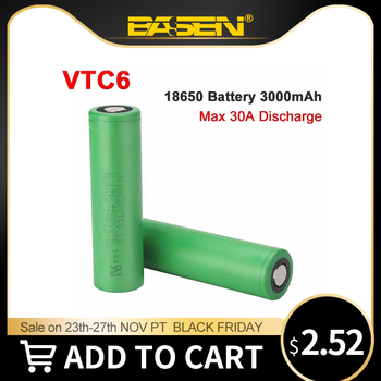 GBETA VTC6 18650 3000mAh Battery 3.7V 30A High Discharge 18650 Rechargeable Batteries for US18650VTC6 Flashlight Tools Battery jouym icr18650 30q 18650 3000mah rechargeable battery 30a large current 18650 high current power discharge welding nickel sheets
