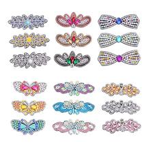 3 PCS DIY Diamond Painting Hair Clip Barrette Butterfly Rhinestone Hair Clip DIY Handmade Bobby Pin Hairpin Hair Styling Decor