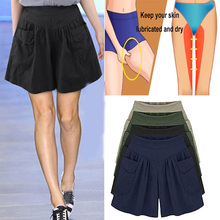 Loose Soft Anti-chafing Wide Leg Pockets Flared Breathable f