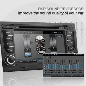 Image 4 - Isudar H53 samochód odtwarzacz multimedialny 2 Din radio samochodowe z systemem Android dla Audi/A4/S4 2002 2008 GPS DVD 8 rdzeń pamięci RAM 4 GB ROM 64 GB DVR DSP