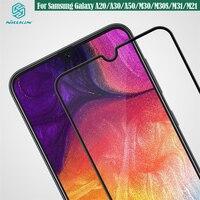 삼성 갤럭시 Samsung Galaxy A50 A20 A30 M30 M30S M31 M21 강화 유리 Nillkin CP + 프로 방폭 전체 화면 보호기 삼성 Samsung M31 들어