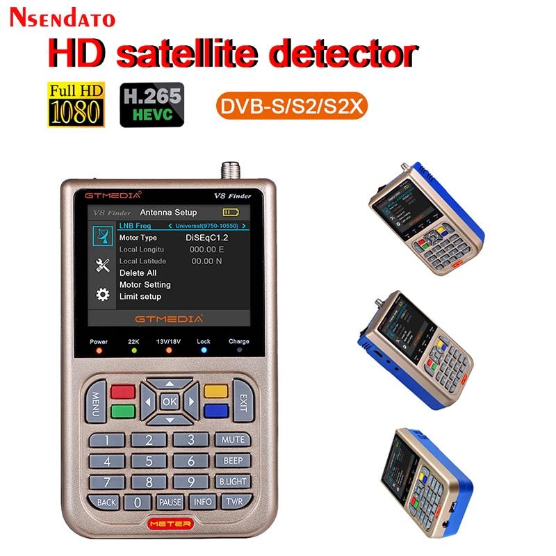 GTMEDIA V8 Finder meter SatFinder DVB S2 S2X Digital Satellite Meter Finder sat finder Rezeptor TV Empfänger PK freesat v8 finder