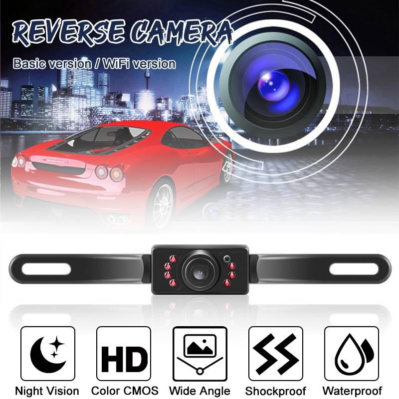 CMOS 7 LED Car Rear View Reverse Backup Camera Parking Night Vision Waterproof