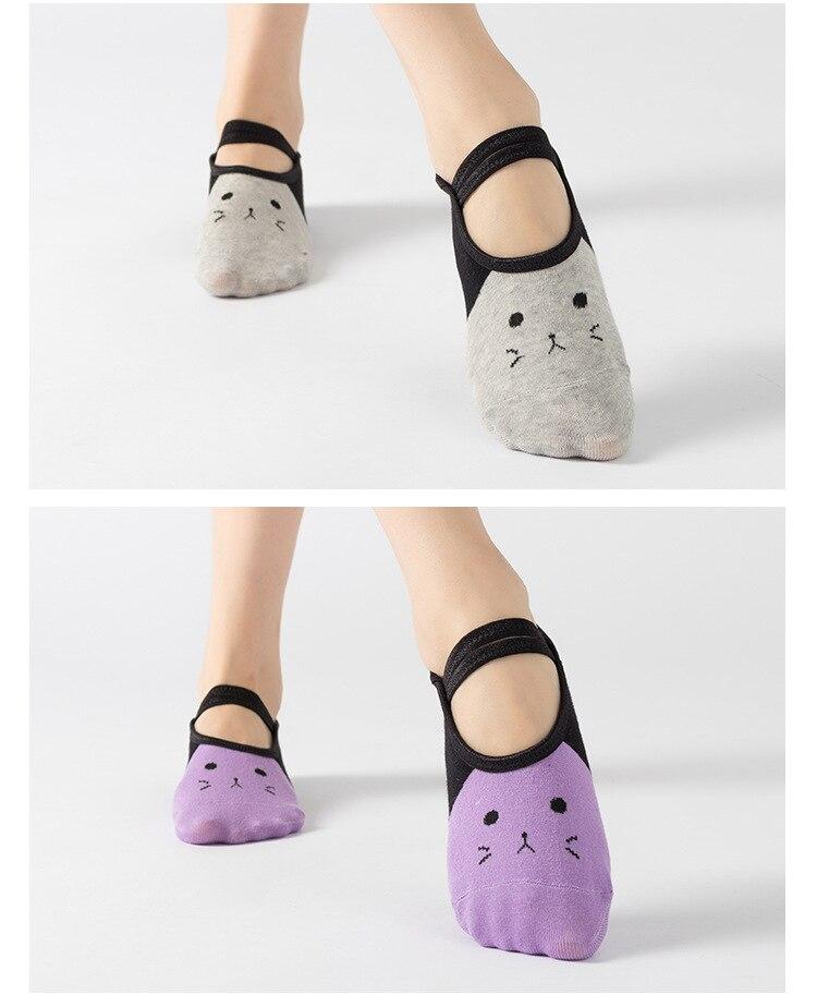 ballet meias bom aperto para mulheres algodão yoga meias