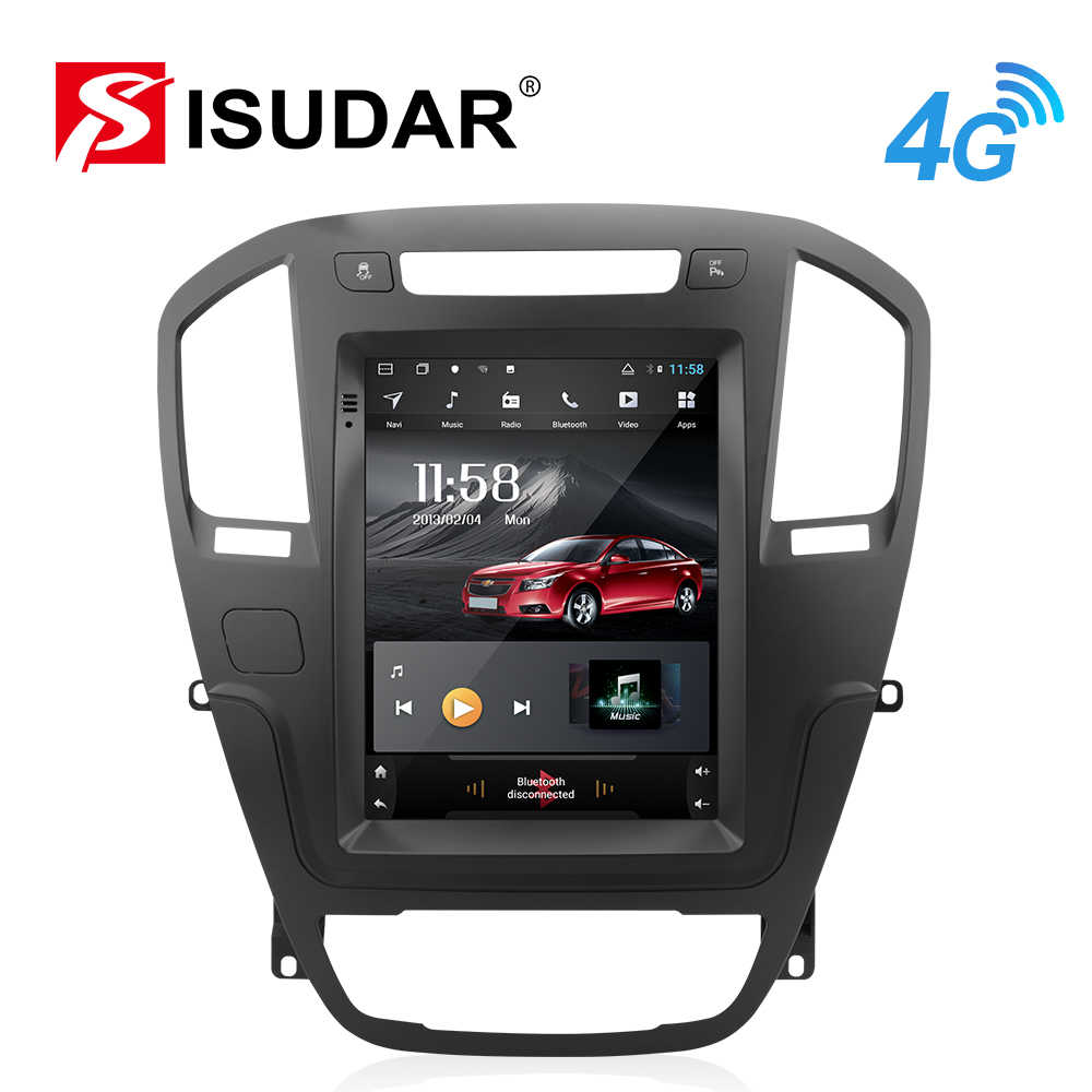 Isudar H53 Verticale 1 Din Android Radio Auto Per Opel insignia vauxhall holden/Buick Regal 2009-2013 GPS car Multimedia di RAM 4G