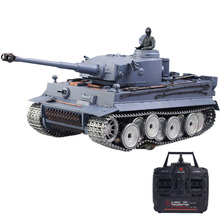 цена на 1:16 German Tiger Heavy Tank 2.4G Remote Control Model Military Tank With Sound Smoke Shooting Effect - Metal Ultimate Edition