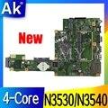 Новинка! AK X553MA материнская плата для ноутбука ASUS X553MA X553M A553MA D553M F553MA K553M тестовая оригинальная материнская плата N3530/N3540 4-ядерный процессор
