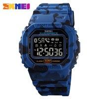 SKMEI Sport Smartwatch uomo Bluetooth Smart Watch elettronico uomo pedometro Calorie Tracker per Huawei Iphone Reloj Inteligente