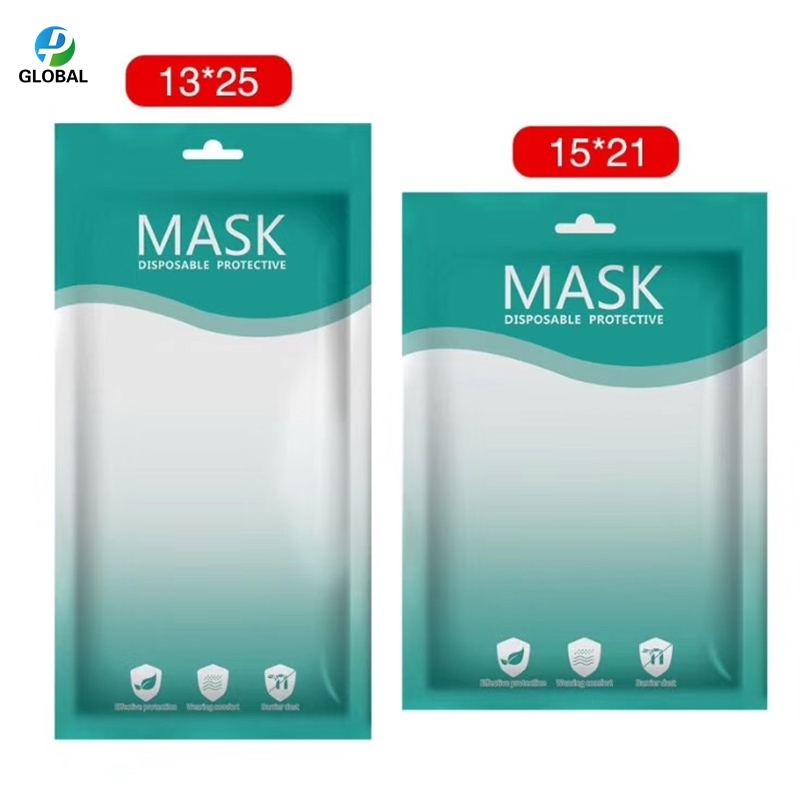 Image 5 - D&P Wholesale plastic packaging Bags With Hang Hole For disposable Mask Zipper Lock plasticPackage storage Bag For 3 Layers MaskStorage Bags   -