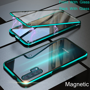 For Huawei Honor 9X Pro Magnetic Case Honor 20 Pro 8X 10 Nova 5 Pro double-sided Tempered Glass Case for Huawei Mate 20 30 Lite